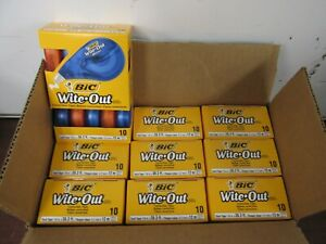 Bic Wite out Brand Ez Correct Correction Tape Case Of 9 Boxes 10 In Each Box 7a