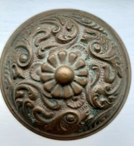 Lockwood Franconia Fish 2 1 2 G10900 Door Knob Brass Antique Victorian 1894