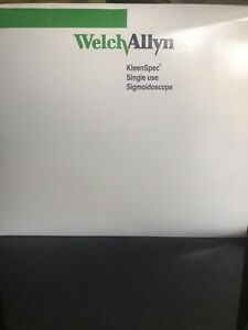 Welch Allyn 53130 Kleenspec Single Use Sigmoidoscope Box Of 25 new