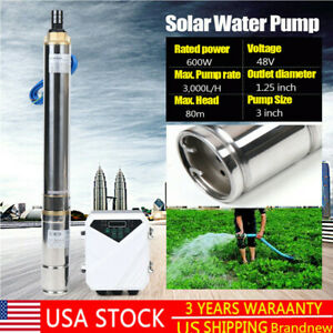 3 Dc Well Solar Water Pump 48v 600w Submersible Brushless Mppt 3 000l h 80m Usa