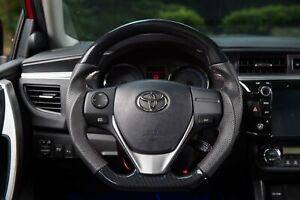 For Toyota Corolla Im 2014 2018 Carbon Fiber Look Leather Steering Wheel sports