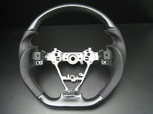 For Toyota Corolla 14 18 Carbon Fiber Look Genuine Leather Steering Wheel sports