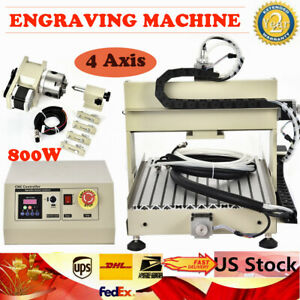 4 Axis Cnc 3040 Router 800w For Pcb Diy Drilling Engraving 3d Carving Machine Us