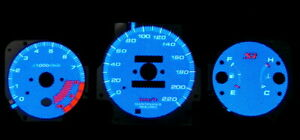 99 00 Civic Si Blue Carbon Fiber Glow Gauges In Km With 10k Rpm S And 220 Km H
