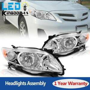 Lamp Assembly For 2009 2010 Toyota Corolla Headlights Headlamp W Amber Corner