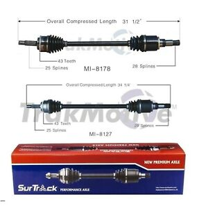 For Mitsubishi Endeavor Awd 2004 2008 Pair Of Rear Cv Axle Shafts Surtrack Set