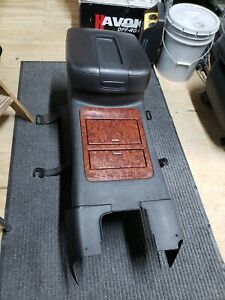 07 13 Sierra Denali Yukon Tahoe Black Leather Center Console Armrest Lid Oem