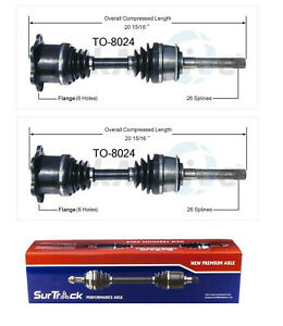 For Toyota Pickup 4runner 4wd 86 95 Pair Of Front Cv Axle Shafts Surtrack Set