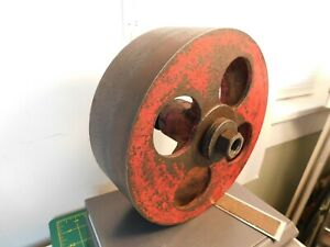 Vintage 1107b Flat Belt Drive Pulley 8 X 2 3 4 Needle Bearing Arbor Bore