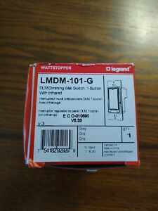 new Wattstopper Lmdm 101 g Dlm Dimming Wall Switch 1 Button W infrared Grey