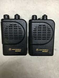 Lot Of 2 Motorola Minitor Iii 3 Vhf Pager No Charger