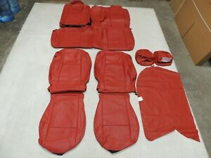 Leather Seat Covers Interior Fits Dodge Challenger Sxt Rt 2015 2020 Red G3