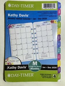Day timer Kathy Davis 2020 Tabbed Monthly Planner 8 5x5 5 Refill Size 4