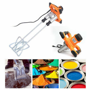 1600 Watt Portable Electric Hand Mixing Mixer Drill For Concrete Paint Fluids