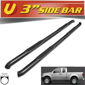 For 2005 2020 Nissan Frontier King Cab Black 3 Round Side Steps Running Boards