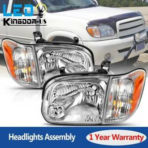 For 2005 2006 Toyota Tundra 05 06 07 Sequoia Headlights Lamps Pair Left Right