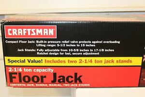 Craftsman 2 1 4 Ton Floor Jack W Two 2 1 4 Ton Stands Great Fathers Day Gift New