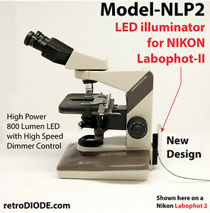 Led Illuminator Retrofit Kit With Dimmer Control Nikon Labophot 2 Microscopes