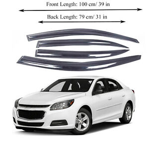 Chevrolet Malibu 13 15 Side Window Vent Visor Sun Rain Deflector Guard 4 Pieces