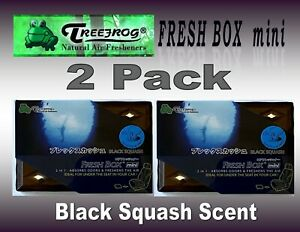 2 Pack Treefrog Fresh Box Mini Black Squash Scent Car Air Freshener jdm Product