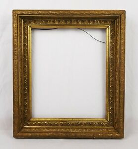 Antique 19th C Victorian Picture Frame Gold Gilt Gesso Baroque Style Fits 12x10