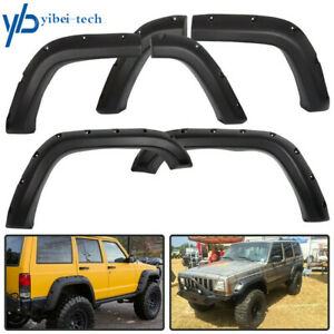 Pp Textured Black Fender Flares For Jeep Cherokee Xj 4dr Sport Utility 84 01