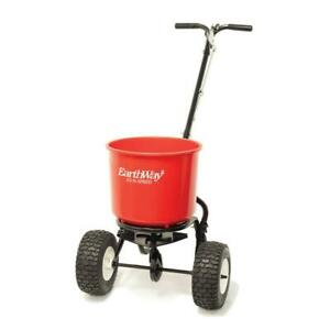 Earthway Seed Fertilizer Spreader 40 Lbs Commercial Pneumatic Tires Aluminum