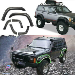 Pocket Rivet Style Wide Fender Flares For 84 01 Jeep Cherokee Xj 4dr Cover Trim