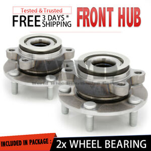 2x 513298 Front Wheel Hub Bearing Assembly Stud For 2008 2013 Nissan Rogue