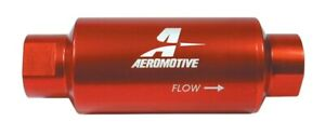 Aeromotive 12301 Fuel Filter 10 Micron 10an Orb Red Paper Element Each