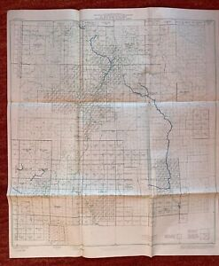 Index To Maps Of New Mexico State Map 1963 24 X28 Vtg Mid Century Us Geological