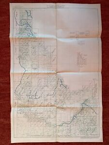 Index To Maps Of Idaho State Map 1963 22x 34 Vtg Mid Century Us Geological Steam