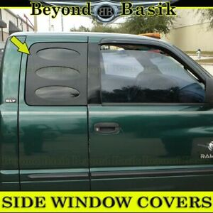 1998 1999 2000 2001 Dodge Ram1500 2500 2 3 4dr Extended Cab Side Window Covers