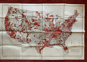 Status Of Topographic Mapping Us Map 1958 27 X41 1 5000000 Vtg Mid Century