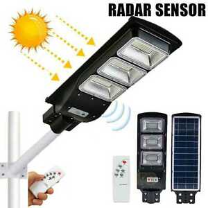 480 LED Solar LED Street Light Commercial Outdoor IP66 Area Security Road Lamp $54.99