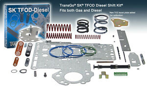 Transgo Sk Tfod diesel Dodge Ram Truck 46re 47re Performance Shift Kit W plate