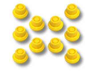 Replacement Yellow Spout Cap Top For Blitz Fuel Gas Can pack Of 10