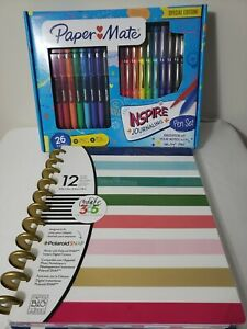 Me My Big Ideas Create 365 Happy Planner 12 Month Undated Papermate Pen Set