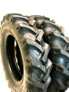 Two 6 50 16 6 50x16 Tires Tubes Heavy Duty 6 Ply R1 Farm Tractor Tires Tubes