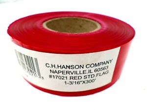 C h Hanson 300 Ft X 1 3 16 In Flagging Construction Surveyors Tape Red