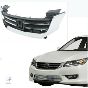 Front Bumper Abs Chrome Grille Grill Fit For Honda Accord 2013 2014 2015 New