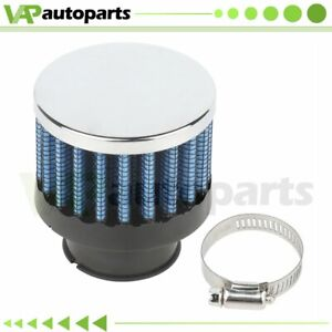 Mini Blue 25mm Air Breather Crankcase Breather Filter Valve Cover Catch Tank