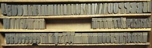 1874 1 1 8 Tall Doric Condensed Wooden Typeset By William Page 87 Pieces