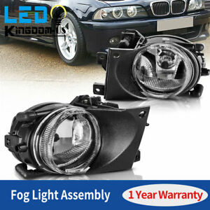 2x For 2001 2003 Bmw E39 525i 530i 540i Clear Fog Lights Lamps W Bulbs Replace