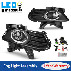 2x Front Fog Lights Lamps Fit For 2013 2016 Ford Fusion Clear Lens Replace Us