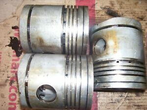 Vintage Fordson Major Diesel Tractor Engine Pistons 4 Diameter