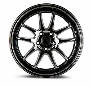 4 New 18 Aodhan Ds02 Ds2 Wheels 18x9 5 18x10 5 5x114 3 15 22 Black Vacuum Stagg