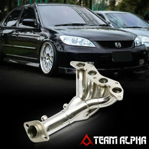 Fits 2001 2005 Honda Civic Dx Lx D17 4 1 Style Stainless Exhaust Manifold Header