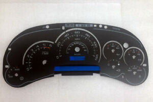 2003 2004 2005 Gm Hummer H2 Cadillac Escalade Cluster Gauge Overlay Clear Scales