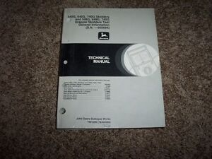 John Deere 540g 640g 740g 548g 648g 748g Skidder Operation Test Manual Tm1599